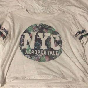 brand: aeropostale, white crop top